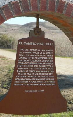 El Camino Real Bell Marker <br>Panel 1 image. Click for full size.