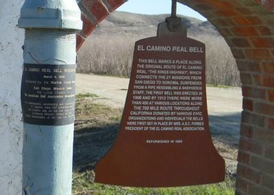 El Camino Real Bell Marker <br>Panels 1 & 2 image. Click for full size.