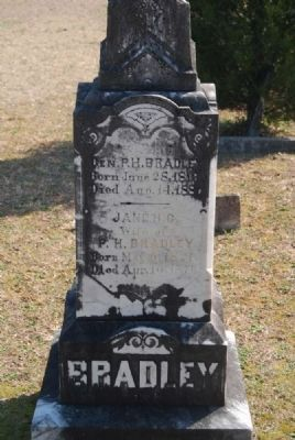Gen. Patrick H. & Jane H.C. Bradley Tombstone<br>Cedar Springs A.R.P. Church Cemetery image. Click for full size.