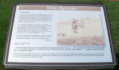 Gum Springs Marker image. Click for full size.