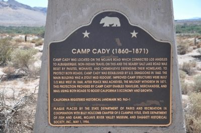 Camp Cady (1860-1871) Marker image. Click for full size.