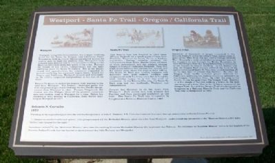 Westport - Santa Fe Trail - Oregon / California Trail Marker image. Click for full size.