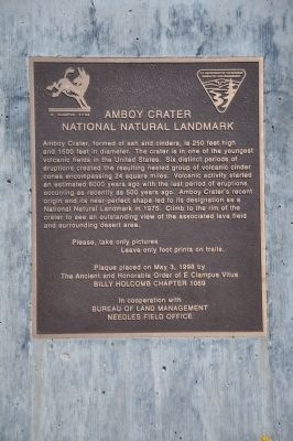 Amboy Crater Marker image. Click for full size.