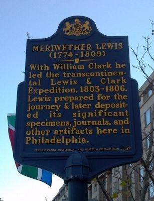 Meriwether Lewis Marker image. Click for full size.