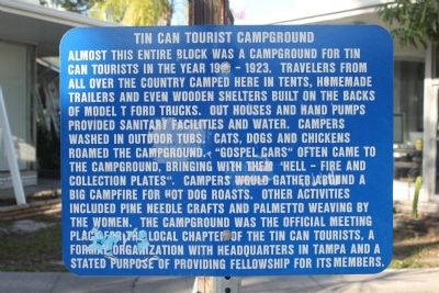 Tin Can Tourist Campground Marker image. Click for full size.