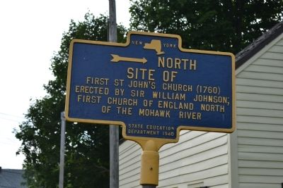 Site of First St John's Church Marker image. Click for full size.