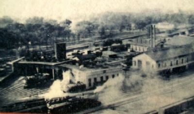 Railyard Photo on Old Depot Museum Marker image. Click for full size.