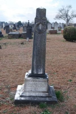 Rev. William H. Barr, D.D. Tombstone image. Click for full size.