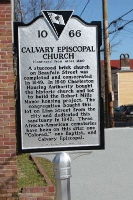 Calvary Episcopal Church Marker, reverse side image. Click for full size.