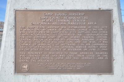 Camp Young Airstrip Marker image. Click for full size.