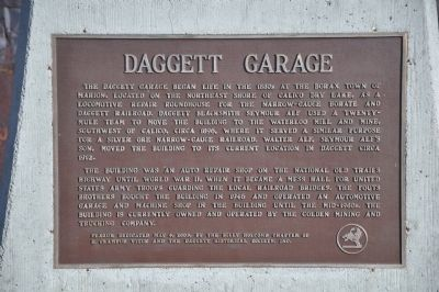Daggett Garage Marker image. Click for full size.
