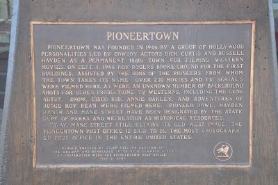 Pioneertown Marker image. Click for full size.