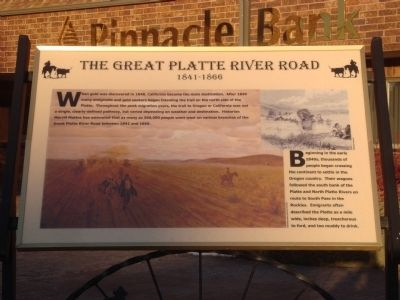 The Great Platte River Road Marker image. Click for full size.