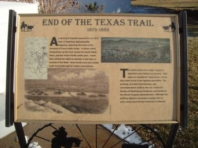 End of the Texas Trail Marker image. Click for full size.