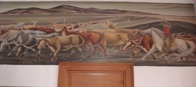 "The ""Long Horns"" mural by Frank Mechau image. Click for full size."