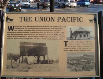 The Union Pacific Marker image. Click for full size.