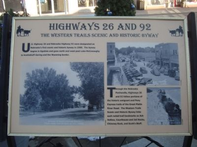 Highways 26 and 92 Marker image. Click for full size.
