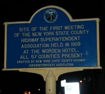 New York State County Highway Superintendents Association Marker image. Click for full size.