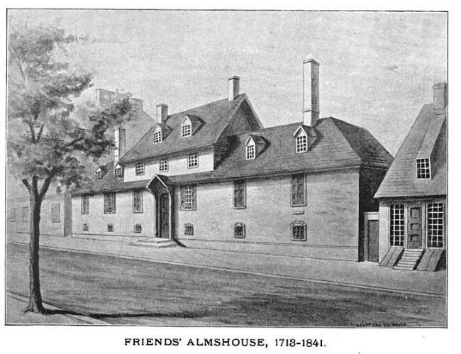 Friends' Almshouse, 1713–1841 image. Click for full size.