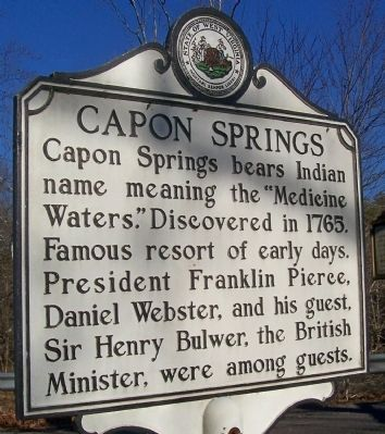 Capon Springs Marker image. Click for full size.