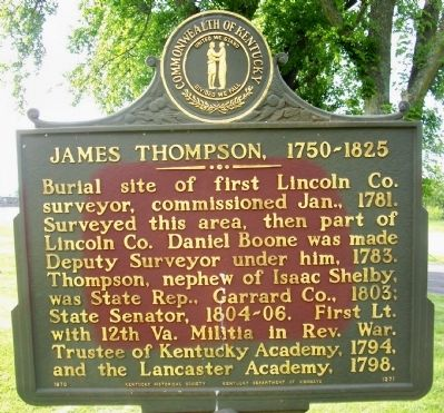 James Thompson, 1750-1825 Marker image. Click for full size.