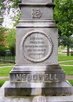 Dr. Ephraim McDowell, 1771-1830 Grave Marker text. image. Click for full size.