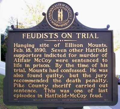 Feudists on Trial Marker image. Click for full size.