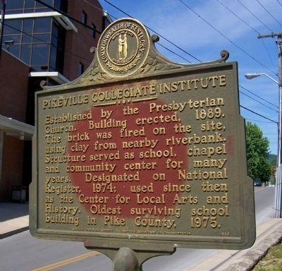 Pikeville Collegiate Institute Marker image. Click for full size.