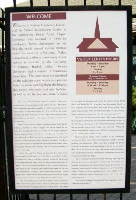 Lawrence Visitor Information Center Marker image. Click for full size.