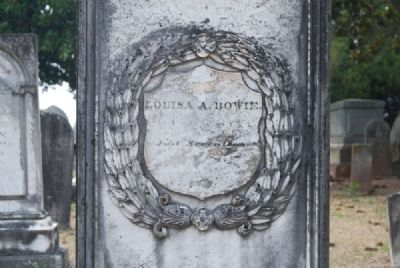Louisa A. Bowie Tombstone image. Click for full size.