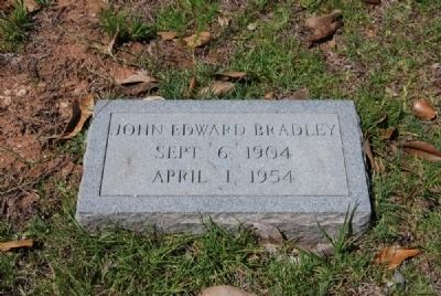 John Edward Bradley Tombstone image. Click for full size.