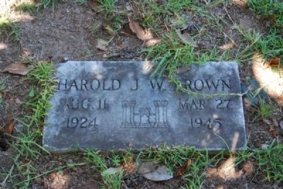 Harold J.W. Brown Tombstone image. Click for full size.