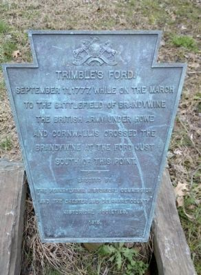 Trimble's Ford Marker image. Click for full size.