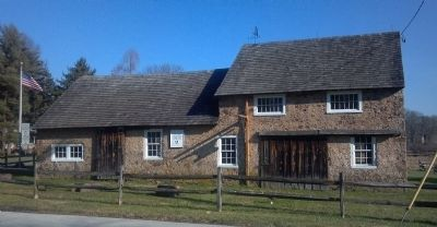 Blacksmith Shop, circa 1750, restored 1982 image. Click for full size.