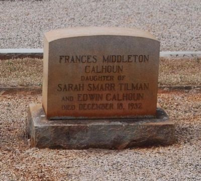 Frances Middleton Calhoun Tombstone image. Click for full size.
