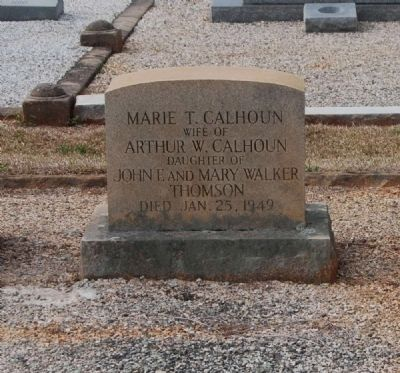 Marie T. Calhoun Tombstone image. Click for full size.