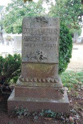 Alex Chalmers Tombstone image. Click for full size.