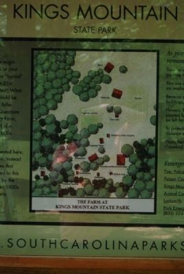 Welcome to Kings Mountain State Park Marker<br>Historical Farm Map image. Click for full size.