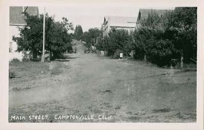 Early Postcard Image of Main Street, Camptonville image. Click for full size.