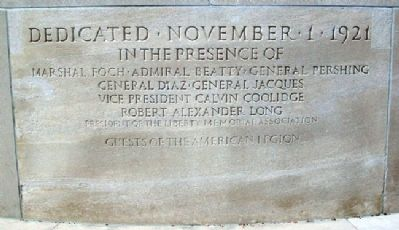 Liberty Memorial Dedication image. Click for full size.