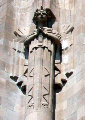 "Guardian Spirit ""Patriotism"" on the Liberty Memorial image. Click for full size."