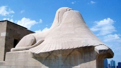"Liberty Memorial Sphinx ""Memory"" image. Click for full size."