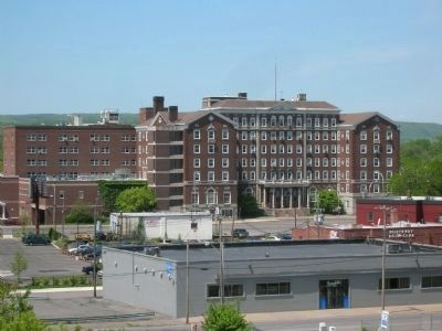 The Former Hotel Van Curler - SCCC, Seen from a Distance in Schenectady image. Click for full size.