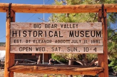 Big Bear Valley Historical Museum image. Click for full size.
