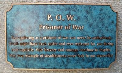 Prisoner of War Memorial Marker image. Click for full size.