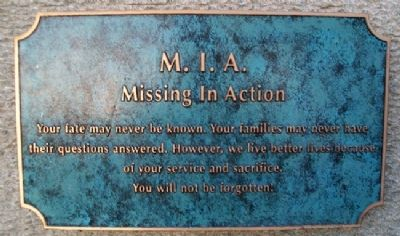 Missing in Action Memorial Marker image. Click for full size.