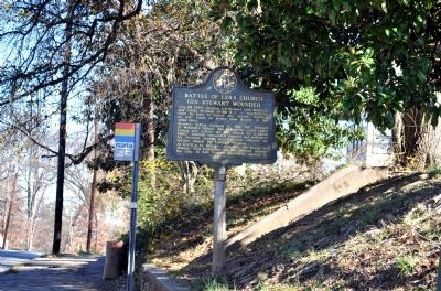 Battle of Ezra Church Gen. Stewart Wounded Marker image. Click for full size.