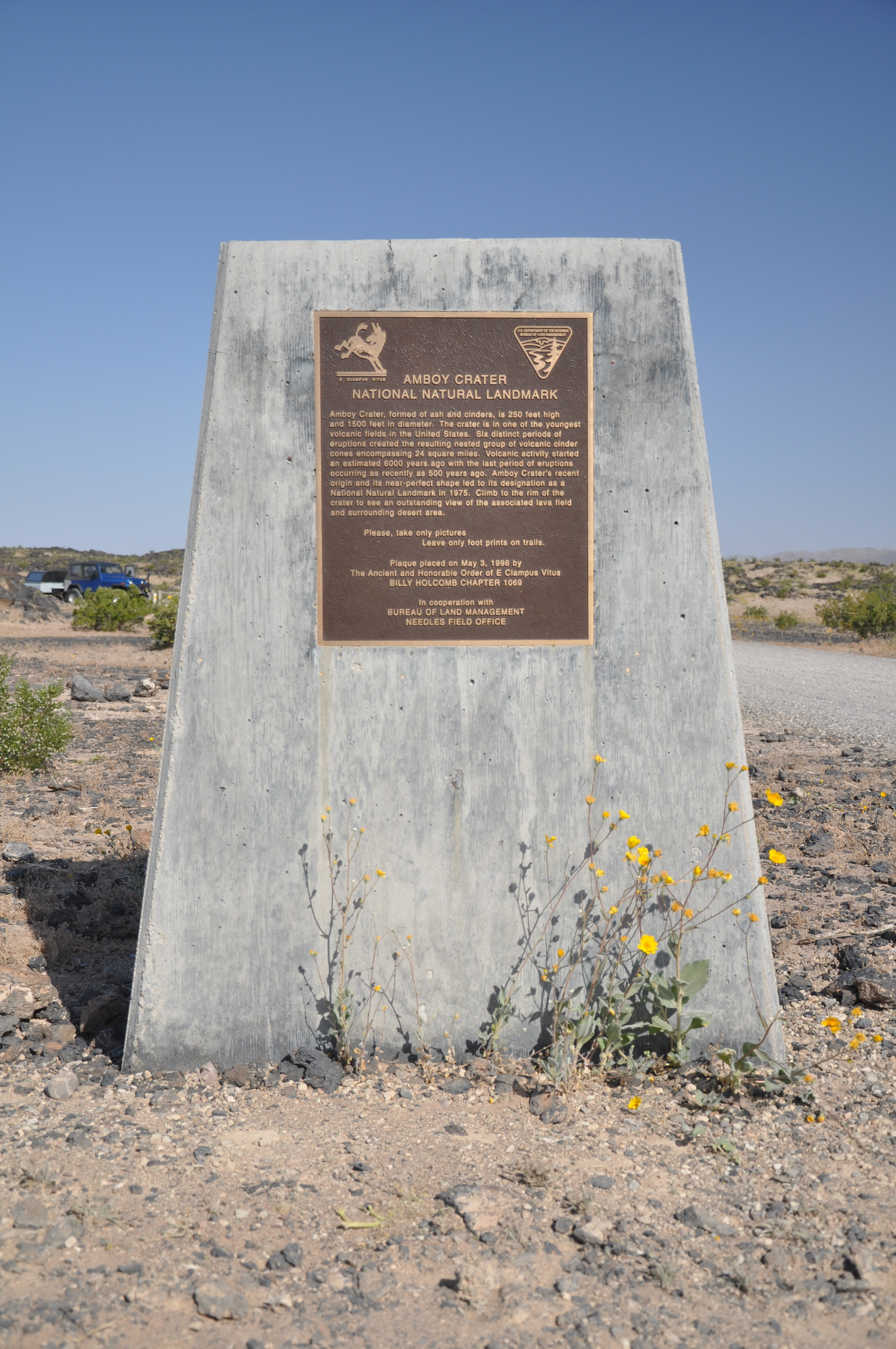 Amboy Crater Marker