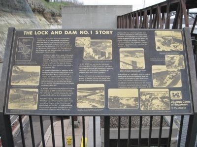 The Lock and Dam No. 1 Story Marker image. Click for full size.
