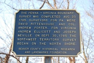 The Penna. - Virginia Boundary Marker image. Click for full size.